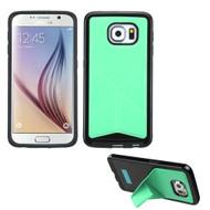 Bumper Frame Multi-View Hybrid Case for Samsung Galaxy S6 - Green
