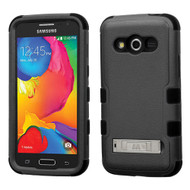 Military Grade TUFF Hybrid Kickstand Case for Samsung Galaxy Avant - Black