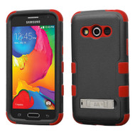 Military Grade TUFF Hybrid Kickstand Case for Samsung Galaxy Avant - Black Red
