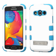 *Sale* Military Grade TUFF Hybrid Kickstand Case for Samsung Galaxy Avant - White Teal