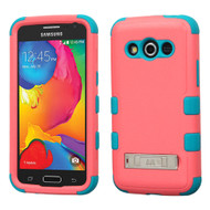 Military Grade TUFF Hybrid Kickstand Case for Samsung Galaxy Avant - Pink Teal