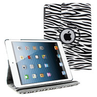 *SALE* Smart Rotary Leather Case for iPad 2, iPad 3 and iPad 4th Generation - Zebra