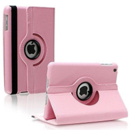 *SALE* Smart Rotary Leather Case for iPad 2, iPad 3 and iPad 4th Generation - Pink