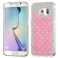 Desire Bling Bling Crystal Cover for Samsung Galaxy S6 Edge - Diamond Pink