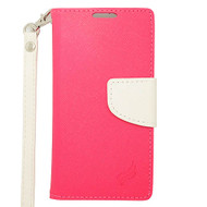 *SALE* Leather Wallet Shell Case for Samsung Galaxy Avant - Hot Pink