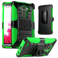 *SALE* Advanced Armor Hybrid Kickstand Case with Holster for LG G4 - Black Green