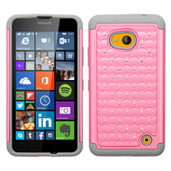 *Sale* TotalDefense Diamond Hybrid Case for Microsoft Lumia 640 - Pink Grey