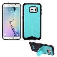 Bumper Frame Multi-View Hybrid Case for Samsung Galaxy S6 Edge - Baby Blue