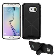 Bumper Frame Multi-View Hybrid Case for Samsung Galaxy S6 Edge - Black