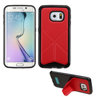 Bumper Frame Multi-View Hybrid Case for Samsung Galaxy S6 Edge - Red