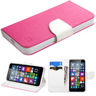 *Sale* Diary Leather Wallet Case for Microsoft Lumia 640 - Hot Pink