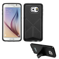 Bumper Frame Multi-View Hybrid Case for Samsung Galaxy S6 - Black
