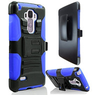 Advanced Armor Hybrid Kickstand Case with Holster for LG G Stylo / Vista 2 - Black Blue