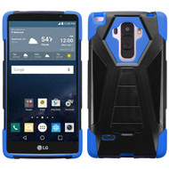 Triangle Multi-Layer Hybrid Kickstand Case for LG G Stylo / Vista 2 - Black Blue