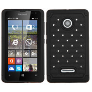 *Sale* TotalDefense Diamond Hybrid Case for Microsoft Lumia 435 - Black