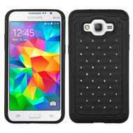 TotalDefense Diamond Hybrid Case for Samsung Galaxy Grand Prime - Black
