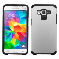 Hybrid Multi-Layer Armor Case for Samsung Galaxy Grand Prime - Silver