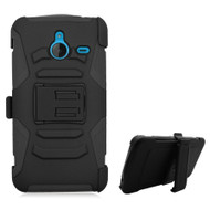 Advanced Armor Hybrid Kickstand Case with Holster for Microsoft Lumia 640 XL - Black