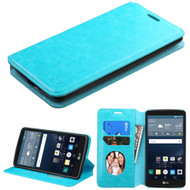 Book-Style Leather Folio Case for LG G Stylo / Vista 2 - Blue
