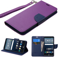 Leather Wallet Shell Case for LG G Stylo / Vista 2 - Purple