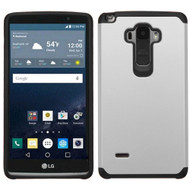 Hybrid Multi-Layer Armor Case for LG G Stylo / Vista 2 - Silver