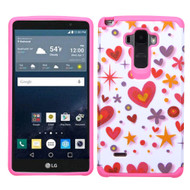Hybrid Multi-Layer Armor Case for LG G Stylo / Vista 2 - Heart Graffiti
