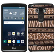 Hybrid Multi-Layer Armor Case for LG G Stylo / Vista 2 - Leopard Zebra