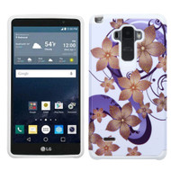 Hybrid Multi-Layer Armor Case for LG G Stylo / Vista 2 - Hibiscus Flower Romance Purple