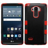 Military Grade Certified TUFF Hybrid Case for LG G Stylo - Black Red