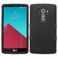 Military Grade Certified TUFF Hybrid Armor Case for LG G4 - Black