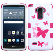 Military Grade Certified TUFF Image Hybrid Case for LG G Stylo - Dancing Butterfly