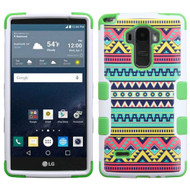 Military Grade Certified TUFF Image Hybrid Case for LG G Stylo / Vista 2 - Tribal Sun