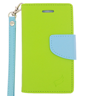 *Sale* Leather Wallet Shell Case for Microsoft Lumia 435 - Green