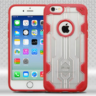 Challenger Transparent Hybrid Case for iPhone 6 / 6S - Red