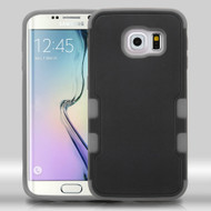 Military Grade Certified TUFF Merge Hybrid Case for Samsung Galaxy S6 Edge - Black Grey