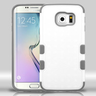Military Grade Certified TUFF Merge Hybrid Case for Samsung Galaxy S6 Edge - White Grey