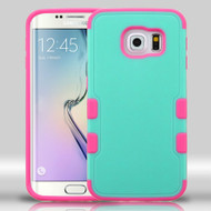 Military Grade Certified TUFF Merge Hybrid Case for Samsung Galaxy S6 Edge - Teal Hot Pink