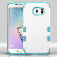 Military Grade Certified TUFF Merge Hybrid Case for Samsung Galaxy S6 Edge - White Teal
