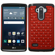 TotalDefense Diamond Hybrid Case for LG G Stylo - Red
