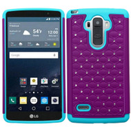 TotalDefense Diamond Hybrid Case for LG G Stylo / Vista 2 - Purple Teal
