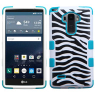 Military Grade Certified TUFF Image Hybrid Case for LG G Stylo / Vista 2 - Zebra Teal