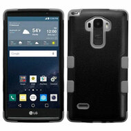 Military Grade Certified TUFF Hybrid Case for LG G Stylo / Vista 2 - Black Grey