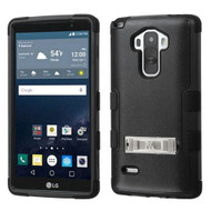 Military Grade Certified TUFF Hybrid Kickstand Case for LG G Stylo / Vista 2 - Black
