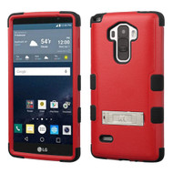 Military Grade Certified TUFF Hybrid Kickstand Case for LG G Stylo / Vista 2 - Red