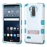 Military Grade Certified TUFF Hybrid Kickstand Case for LG G Stylo / Vista 2 - White Teal