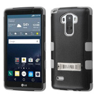 Military Grade Certified TUFF Hybrid Kickstand Case for LG G Stylo / Vista 2 - Black Grey