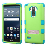 Military Grade Certified TUFF Hybrid Kickstand Case for LG G Stylo / Vista 2 - Green Teal
