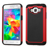 TotalDefense Hybrid Case for Samsung Galaxy Grand Prime - Red