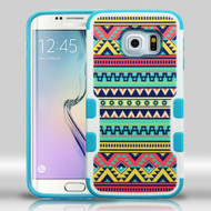 Military Grade Certified TUFF Merge Graphic Hybrid Case for Samsung Galaxy S6 Edge - Tribal Sun