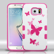 Military Grade Certified TUFF Merge Graphic Hybrid Case for Samsung Galaxy S6 Edge - Dancing Butterfly